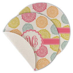 Doily Pattern Round Linen Placemat (Personalized)