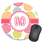 Doily Pattern Round Mouse Pad (Personalized)