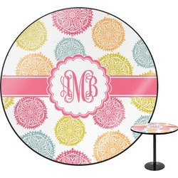 Doily Pattern Round Table (Personalized)