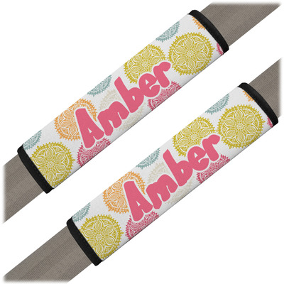 Doily Pattern Seat Belt Covers (Set of 2) (Personalized)