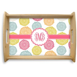 Doily Pattern Natural Wooden Tray (Personalized)