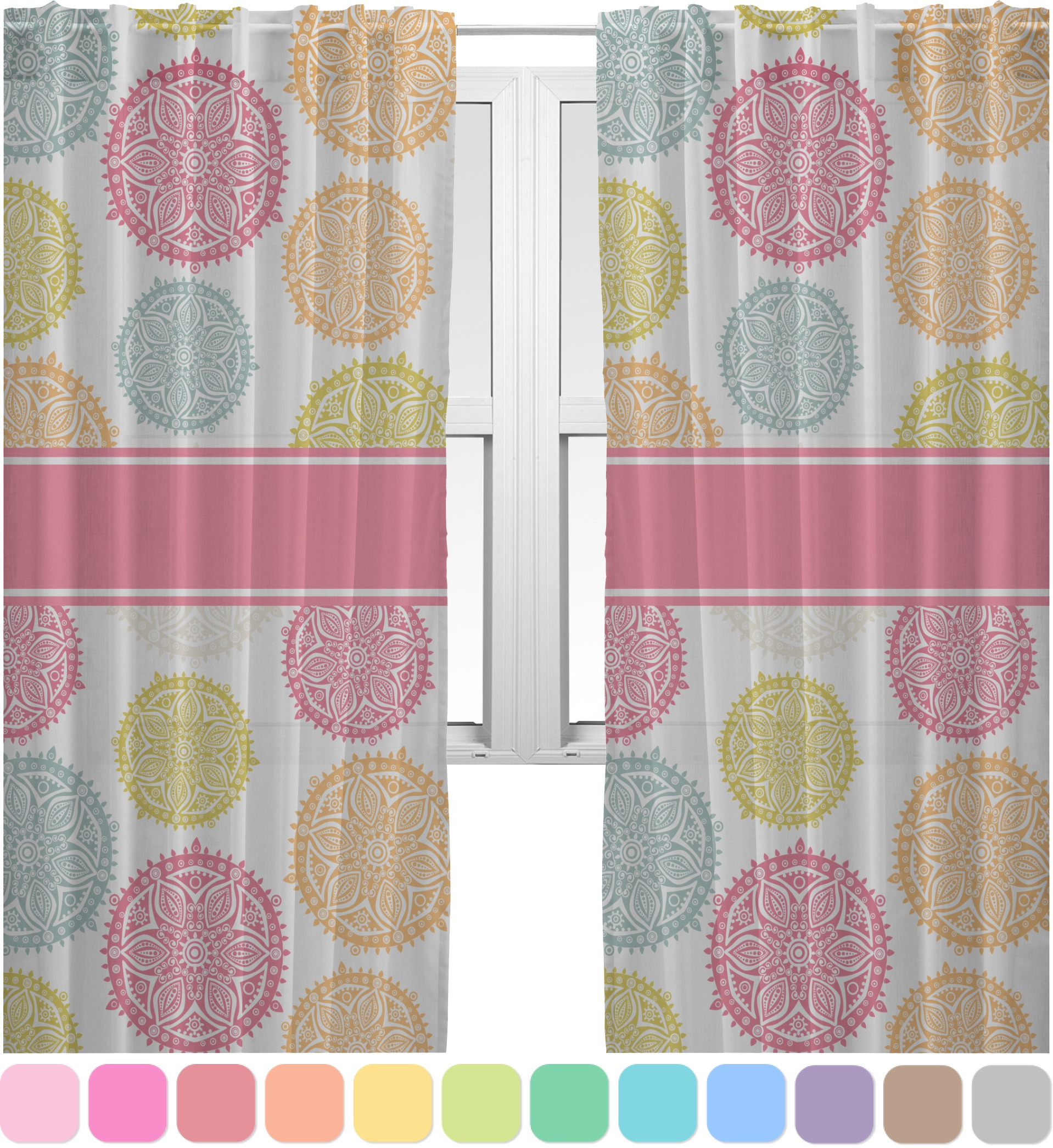Doily Pattern Sheer Curtains 60 X84 Personalized Youcustomizeit