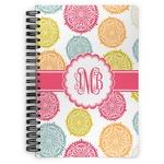 Doily Pattern Spiral Bound Notebook (Personalized)