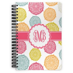 Doily Pattern Spiral Bound Notebook (Personalized)