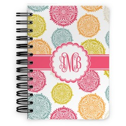 Doily Pattern Spiral Bound Notebook - 5x7 (Personalized)