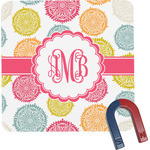 Doily Pattern Square Fridge Magnet (Personalized)