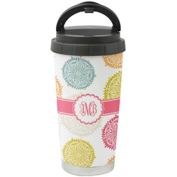 Doily Pattern Stainless Steel Travel Mug (Personalized)