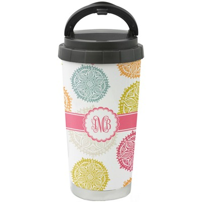Doily Pattern Stainless Steel Coffee Tumbler (Personalized)