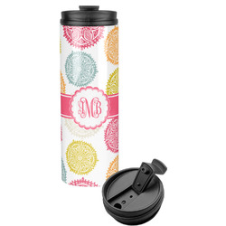 Doily Pattern Stainless Steel Skinny Tumbler (Personalized)