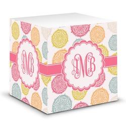 Doily Pattern Sticky Note Cube (Personalized)