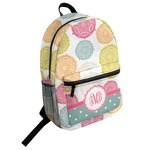Doily Pattern Student Backpack (Personalized)
