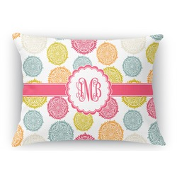 Doily Pattern Rectangular Throw Pillow Case (Personalized)