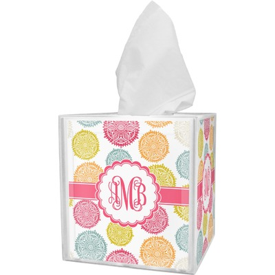 Doily Pattern Tissue Box Cover (Personalized)