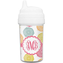 Doily Pattern Toddler Sippy Cup (Personalized)