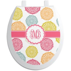Doily Pattern Toilet Seat Decal (Personalized)