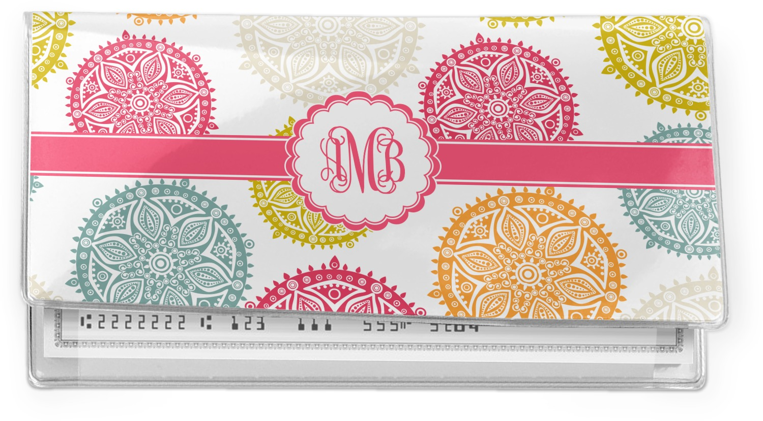 Cheque Book Cover Pattern : Doily pattern vinyl check book cover personalized