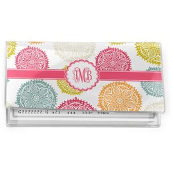 Doily Pattern Vinyl Checkbook Cover (Personalized)