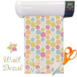 Doily Pattern Vinyl Sheet (Re-position-able)