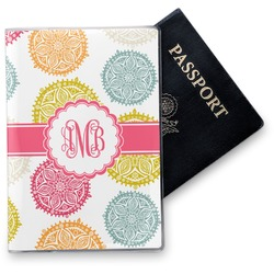 Doily Pattern Vinyl Passport Holder (Personalized)