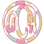 Doily Pattern Monogram Decal - Custom Sized (Personalized)
