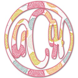 Doily Pattern Monogram Decal - Small (Personalized)