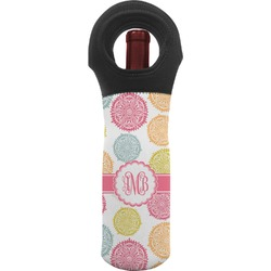 Doily Pattern Wine Tote Bag (Personalized)