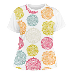 Doily Pattern Women's Crew T-Shirt (Personalized)