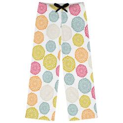 Doily Pattern Womens Pajama Pants (Personalized)