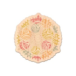 Doily Pattern Genuine Maple or Cherry Wood Sticker (Personalized)