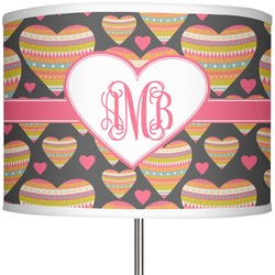 "Hearts 13"" Drum Lamp Shade (Personalized)"