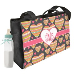 Hearts Diaper Bag w/ Monogram