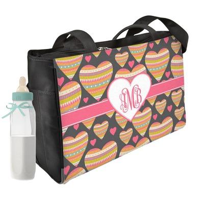 Hearts Diaper Bag w/ Monogram