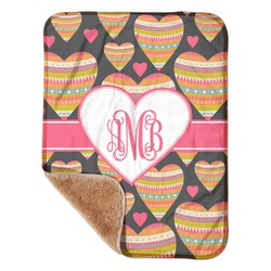"Hearts Sherpa Baby Blanket 30"" x 40"" (Personalized)"