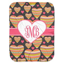 Hearts Baby Swaddling Blanket (Personalized)