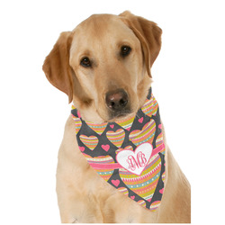 Hearts Dog Bandana Scarf w/ Monogram