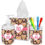 Hearts Acrylic Bathroom Accessories Set w/ Monogram