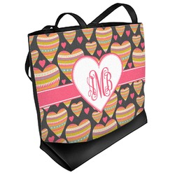 Hearts Beach Tote Bag (Personalized)