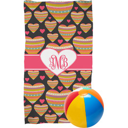 Hearts Beach Towel (Personalized)