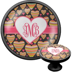 Hearts Cabinet Knob (Black) (Personalized)