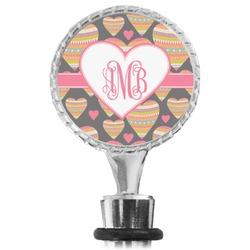 Hearts Wine Bottle Stopper (Personalized)