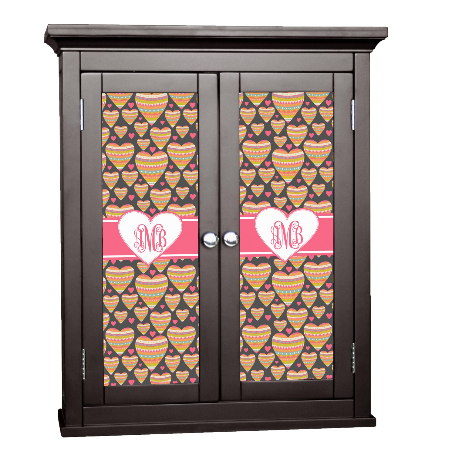 Hearts Cabinet Decal - Small (Personalized) - YouCustomizeIt