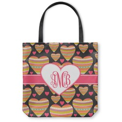 Hearts Canvas Tote Bag (Personalized)