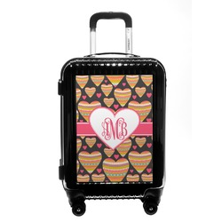 Hearts Carry On Hard Shell Suitcase (Personalized)