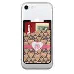 Hearts 2-in-1 Cell Phone Credit Card Holder & Screen Cleaner (Personalized)