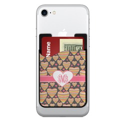Hearts Cell Phone Credit Card Holder (Personalized)