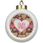 Hearts Ceramic Ball Ornament (Personalized)