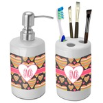 Hearts Bathroom Accessories Set (Ceramic) (Personalized)