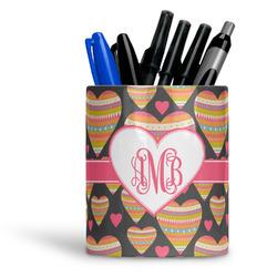 Hearts Ceramic Pen Holder