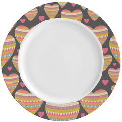 Hearts Ceramic Dinner Plates (Set of 4) (Personalized)
