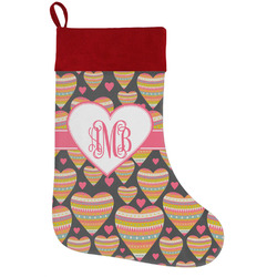 Hearts Holiday / Christmas Stocking (Personalized)